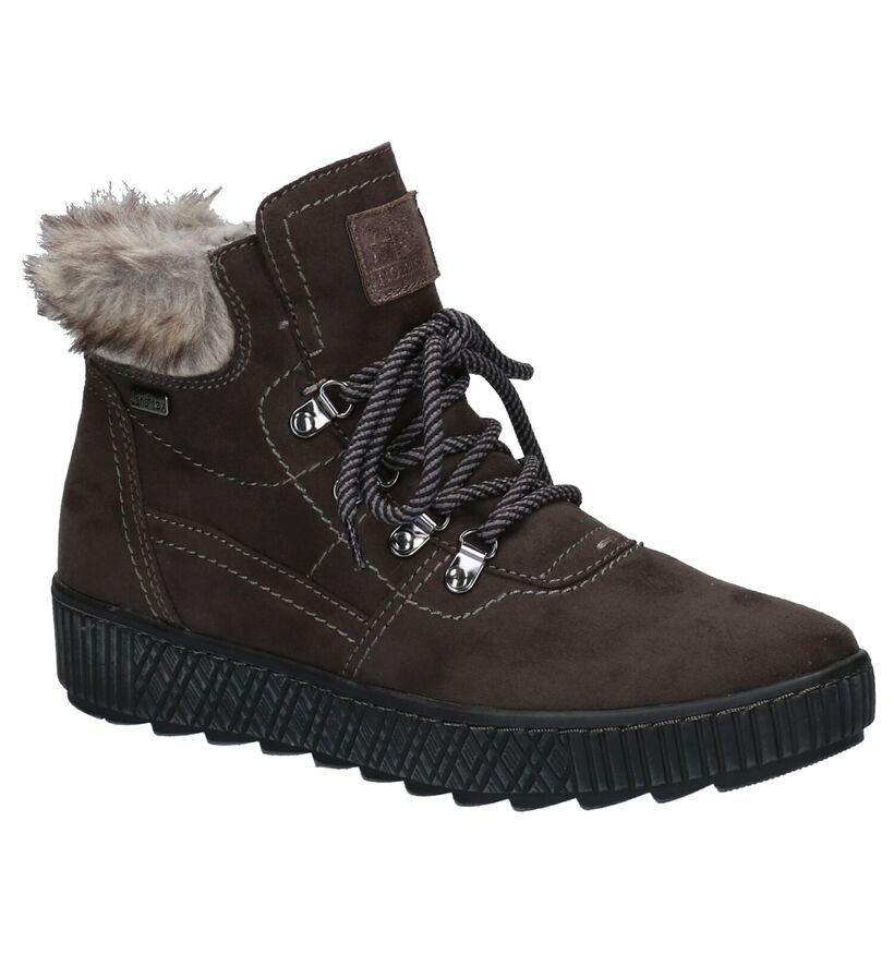 Jana Bruine Boots in stof (257425)