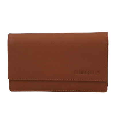 Overslagportefeuille Zwart Euro-Leather in leer (250885)