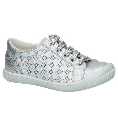 Zilveren Schoenen met Rits & Veters Bopy Sara, Zilver, pdp