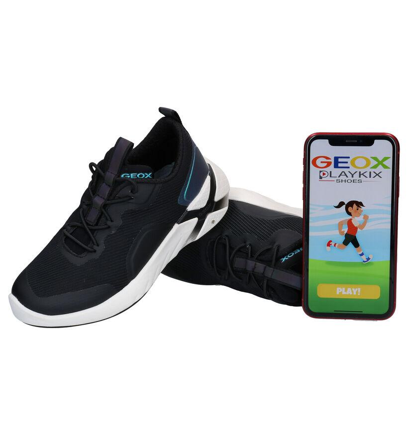 Geox Playkix Baskets en Noir en textile (279681)