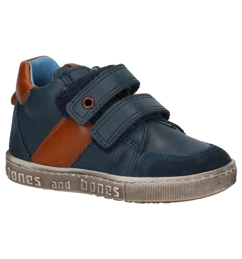 STONES and BONES Stoc Blauwe Hoge Schoenen in leer (256775)