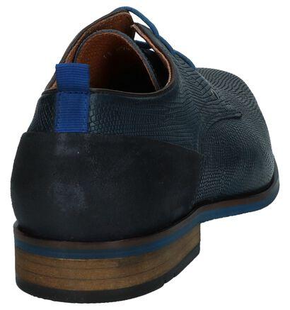 Donkerblauwe Geklede Veterschoenen Australian Irving, Blauw, pdp