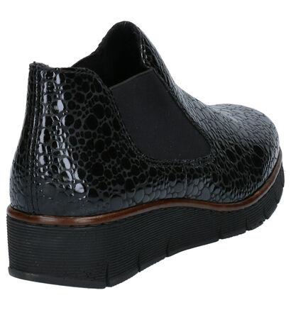 Rieker Chaussures slip-on en Noir en imitation cuir (260574)
