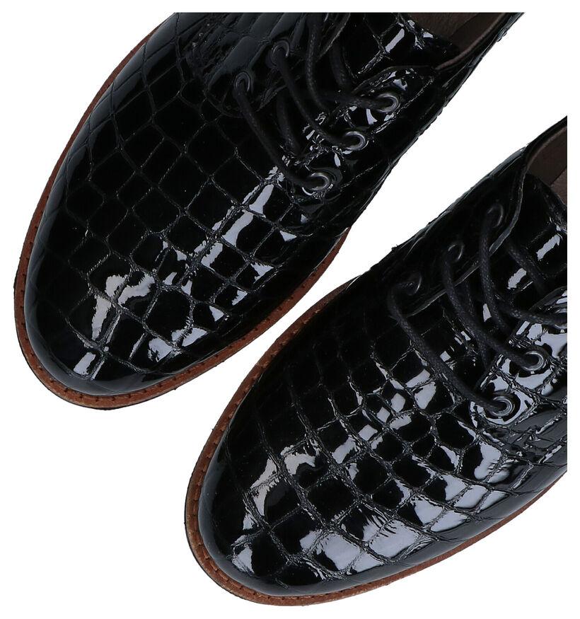 Mirel Chaussures à lacets en Noir en cuir (279850)