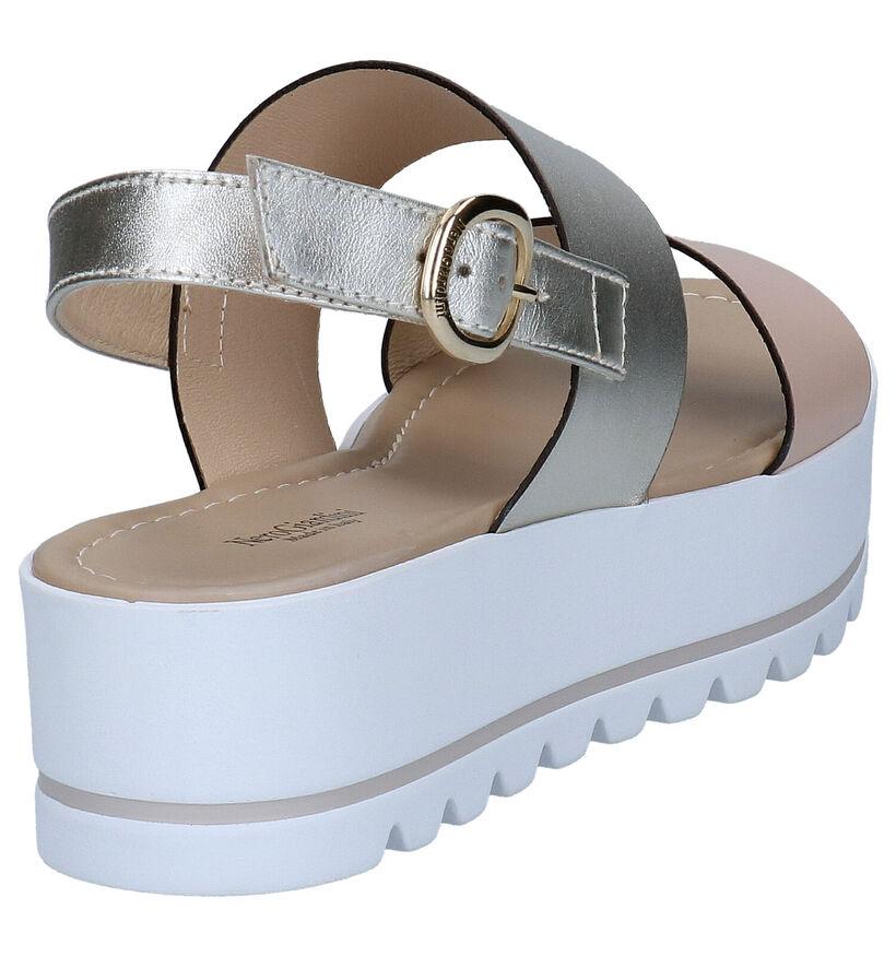 NeroGiardini Zilveren Sandalen in leer (274337)