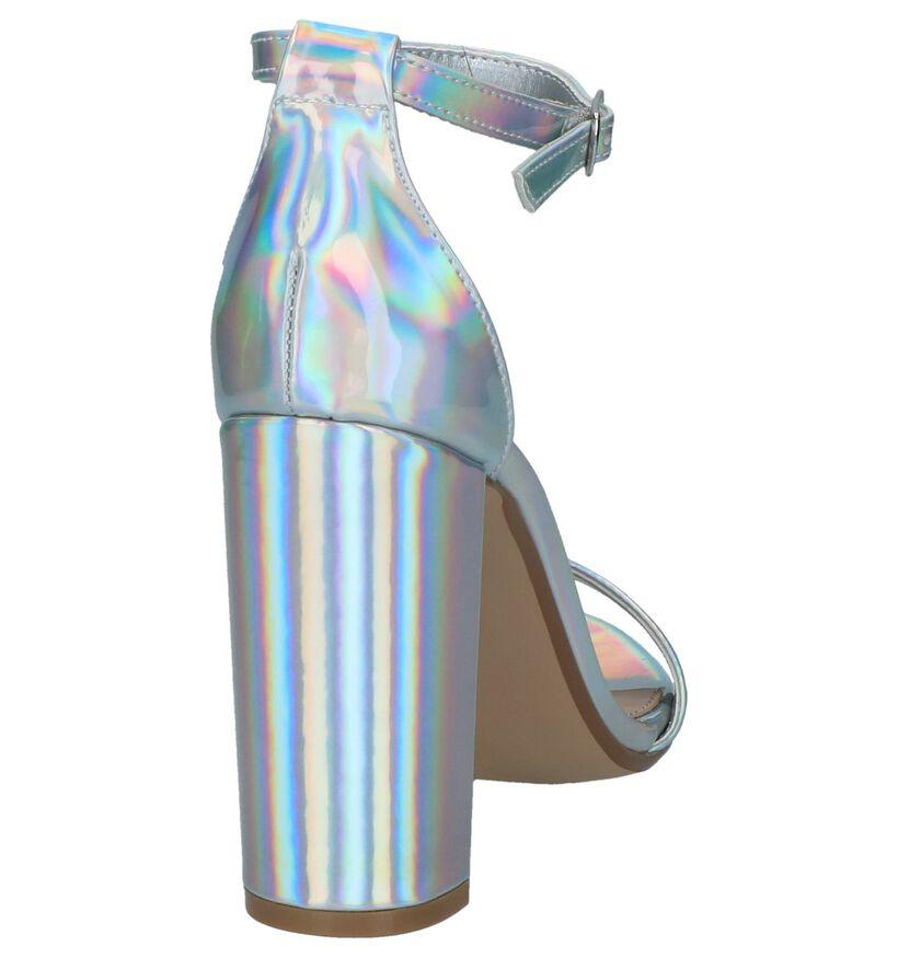 Steve Madden Carrson Zilveren Sandalen in kunstleer (239741)