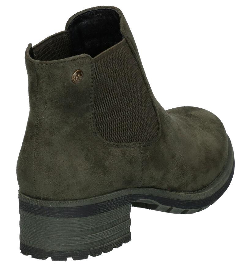 Rieker Kaki Boots in stof (253689)