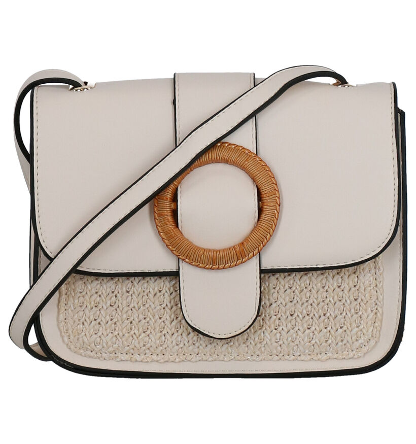 Hampton Bays Donna Beige Crossbody Tas in kunstleer (277926)