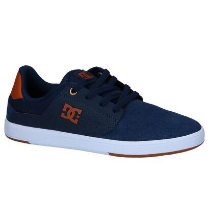 Donkerblauwe Lage Skateschoenen DC Shoes Plaza in kunstleer (235123)