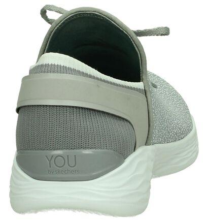 Slip-on Sneakers Grijs YOU by Skechers in stof (207788)