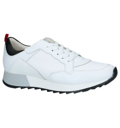 Witte Tamaris Lage Sneakers in leer (225682)
