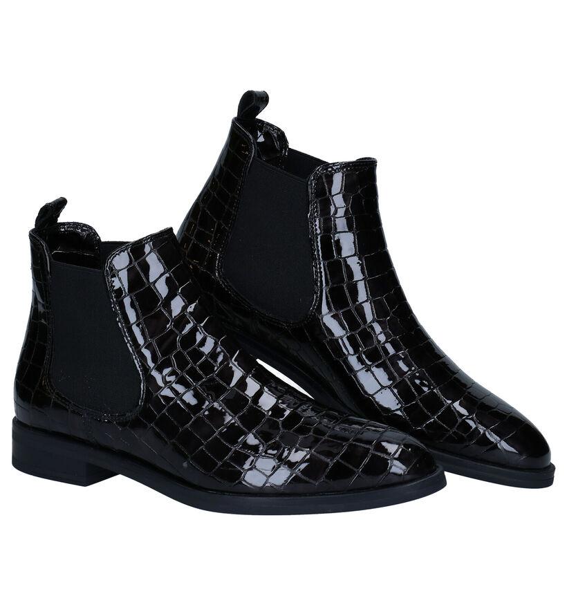Hampton Bays Chelsea Boots en Noir en verni (277835)