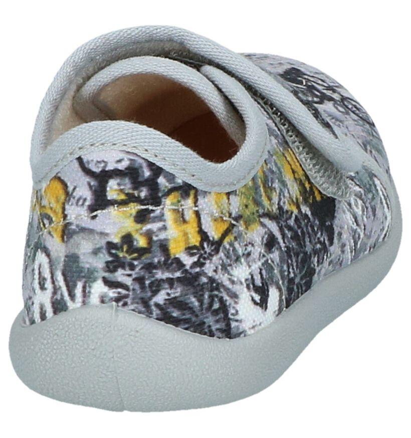 Bellamy Opalier Grijze Gesloten Pantoffels in stof (248495)