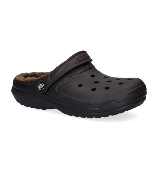 Crocs Classic Fuzz-lined Clog Bruine Slippers