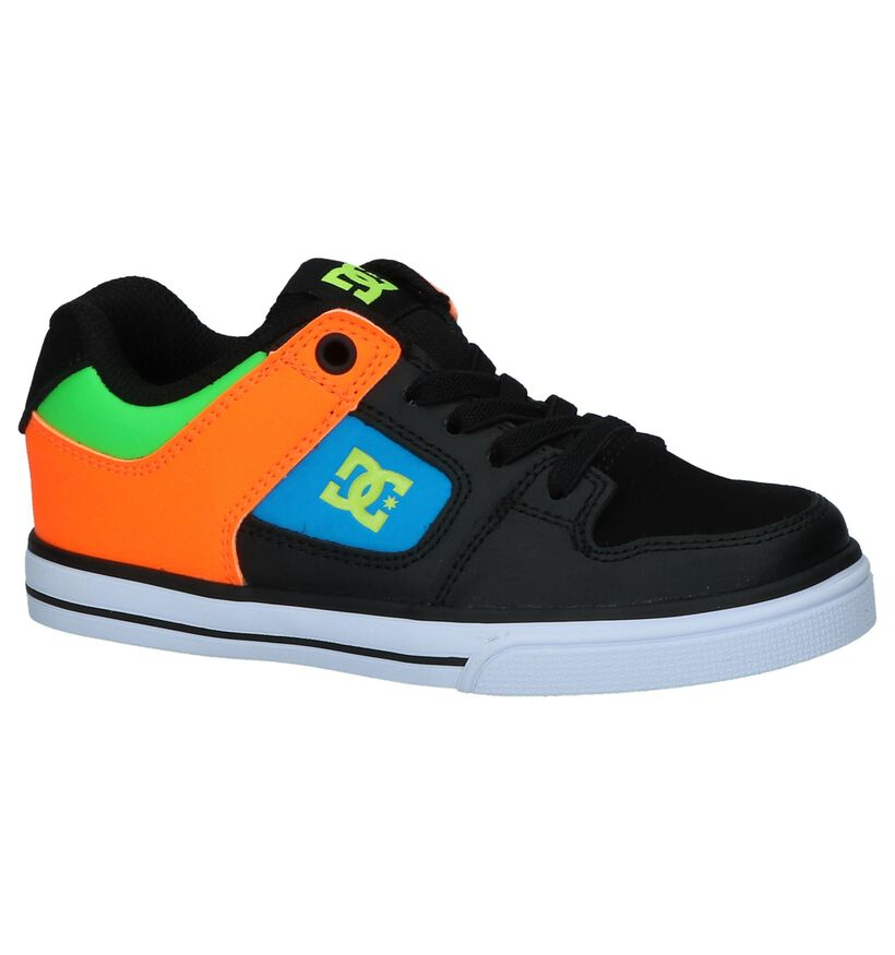 DC Shoes Baskets de skate en Noir en cuir (235130)