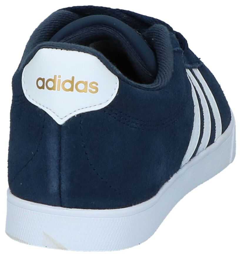 adidas Courtset Baskets en Noir en cuir (276457)