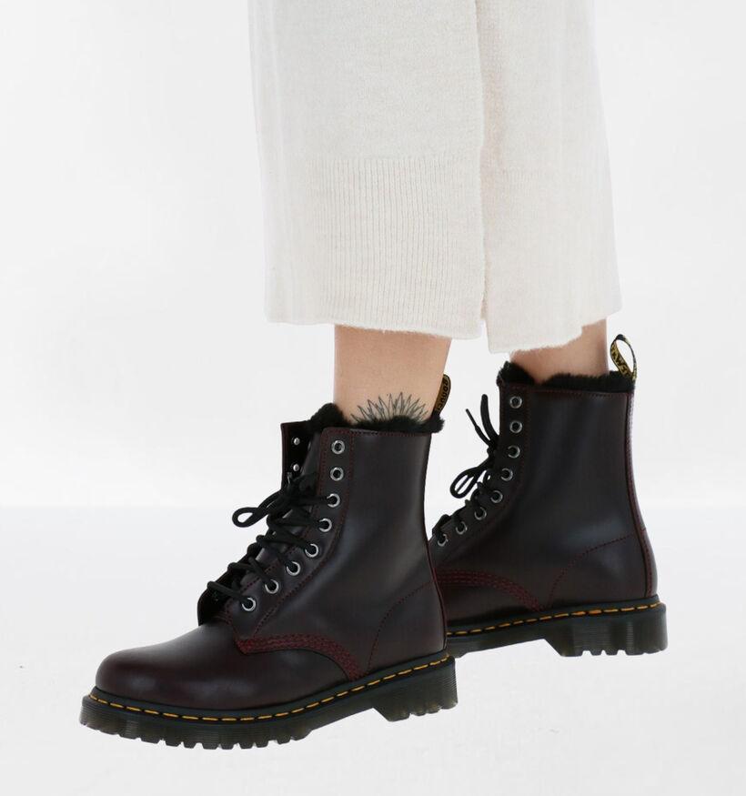 Dr. Martens 1460 Serena Zwarte Boots in leer (277071)