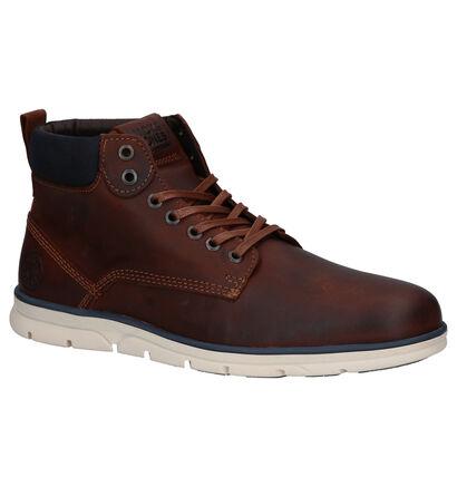 Jack & Jones Chaussures hautes en Brun foncé en cuir (256276)