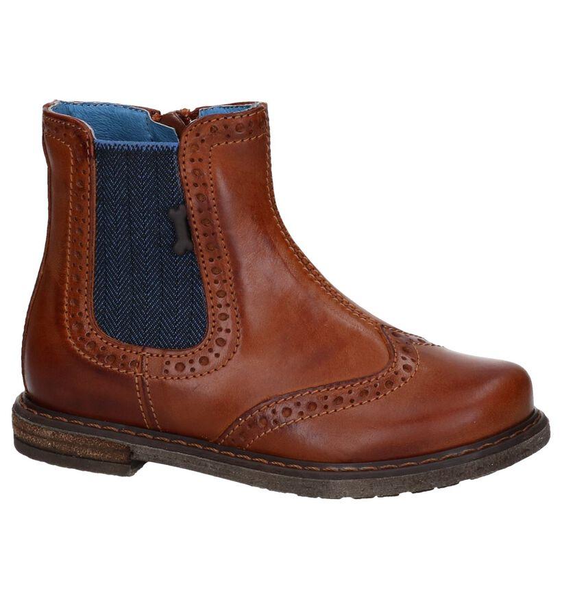 STONES and BONES Chaussures hautes en Cognac en cuir (255466)
