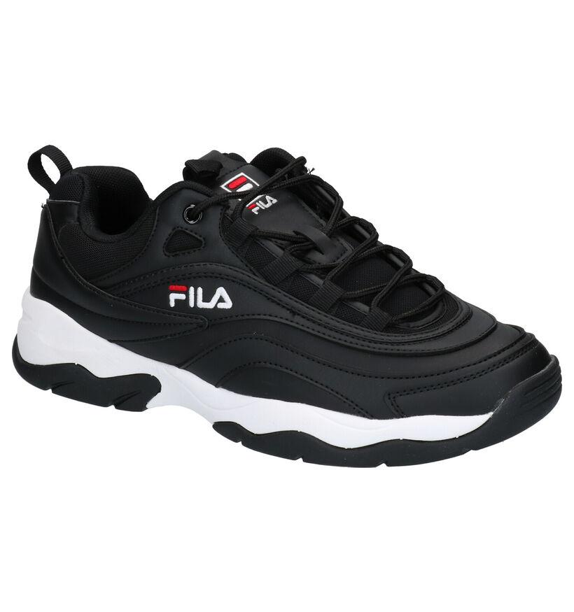 Fila Ray Zwarte Sneakers in kunstleer (253537)