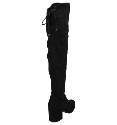 Tamaris Zwarte Overknee Laarzen in stof (257135)