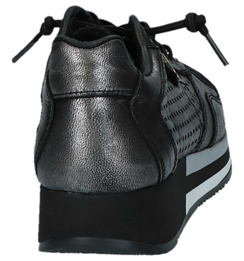 Cetti Zilveren Sneakers in leer (229808)