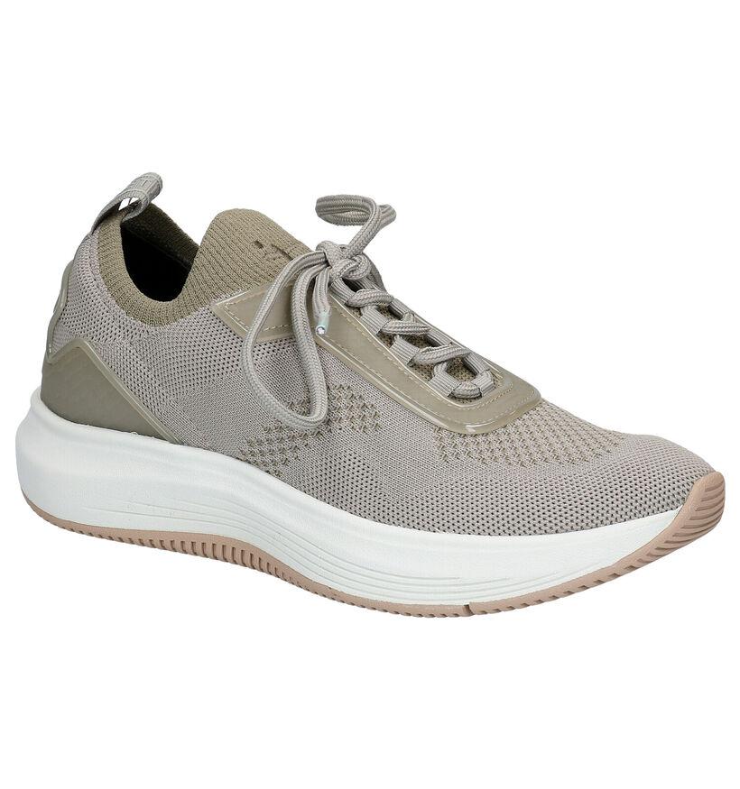 Tamaris Fashletics Groene Slip-on Sneakers in stof (269727)