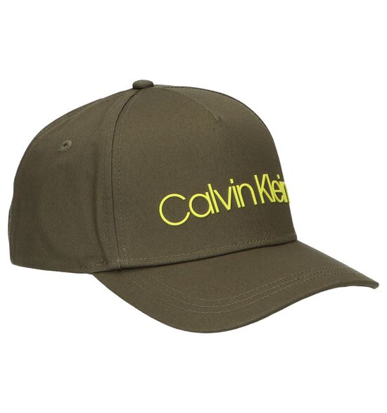Kaki Pet Calvin Klein Sliver Contrast Trucker Cap