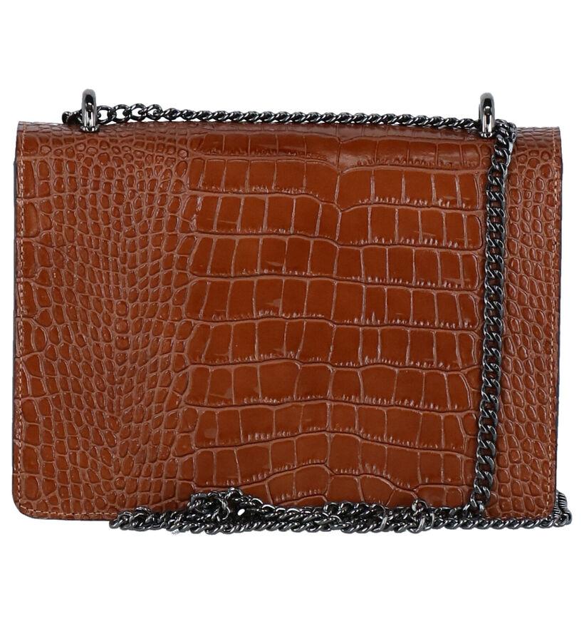 Charm Sac porté croisé en Cognac en simili cuir (275636)
