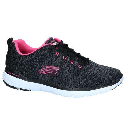 Zwarte Sneakers Skechers Flex Appeal, Zwart, pdp