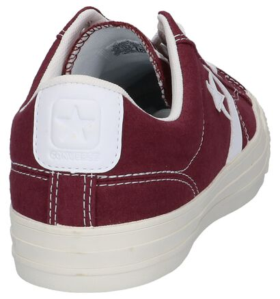 Converse Star Player Bordeaux Sneakers in stof (222241)