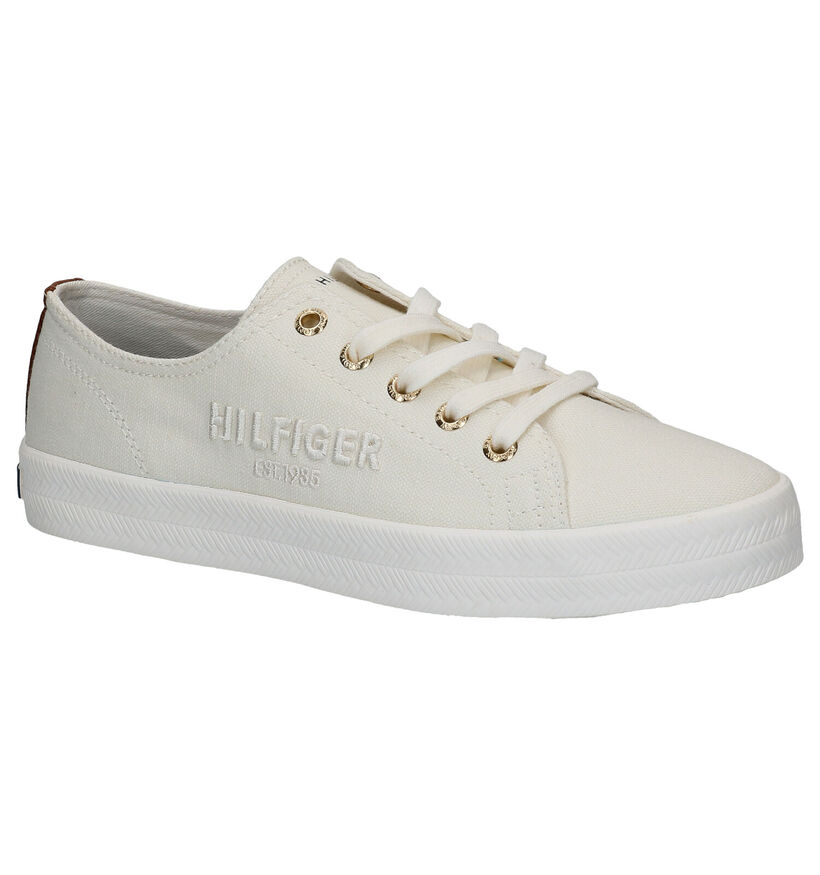 Tommy Hilfiger Tommy Basic Ecru Sneakers in stof (276241)