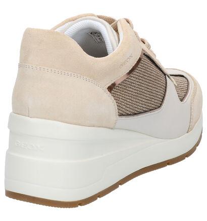 Geox Chaussures à lacets en Beige clair en textile (266834)