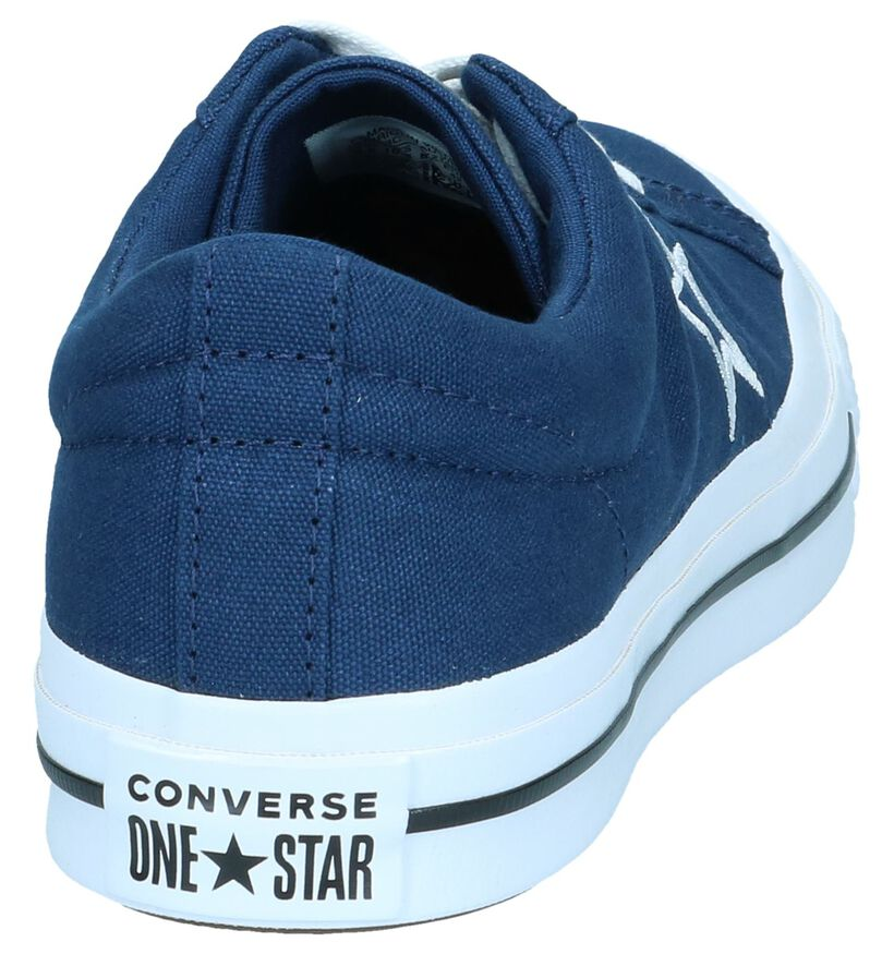 Donkerblauwe Sneakers Converse One Star OX in stof (250013)