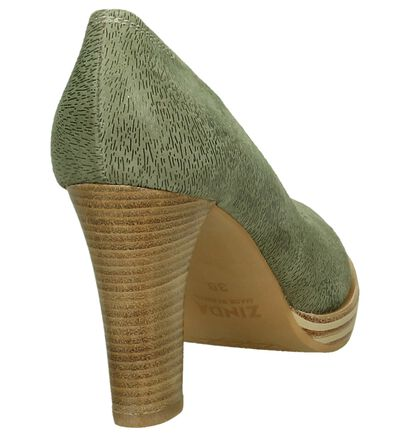 Zinda Escarpins classique  (Vert kaki), Vert, pdp