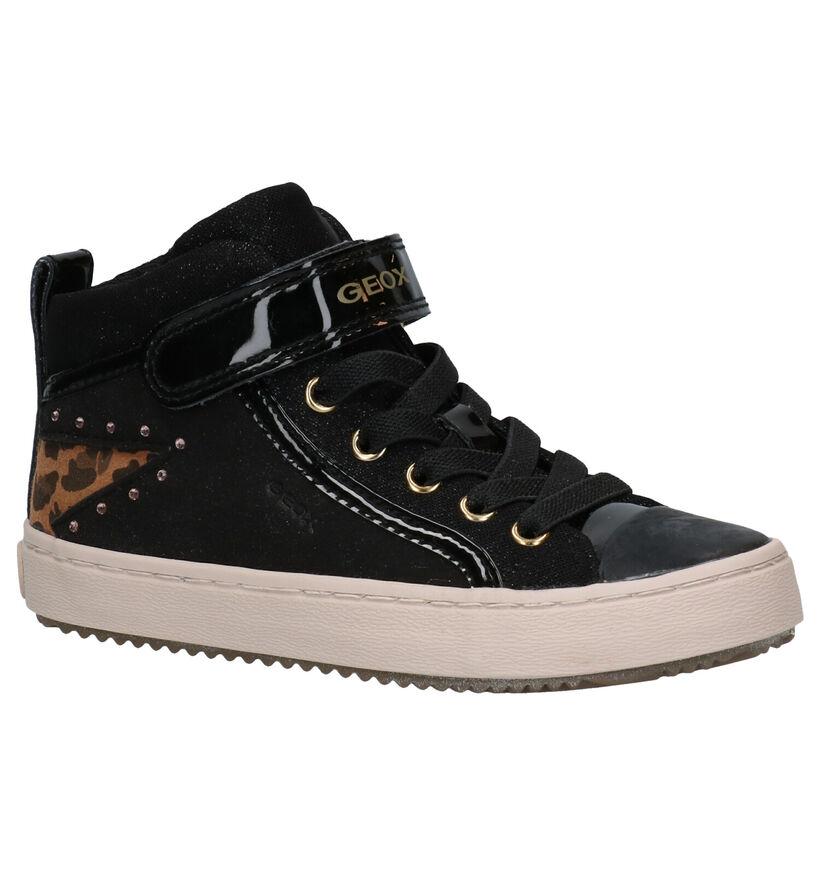 Geox Kalispera Chaussures hautes en Noir en textile (278484)