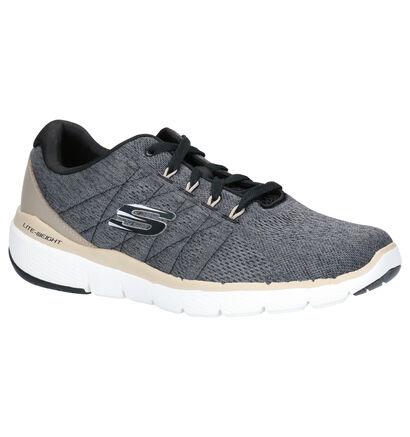 Skechers Grijze Sneakers in stof (262780)