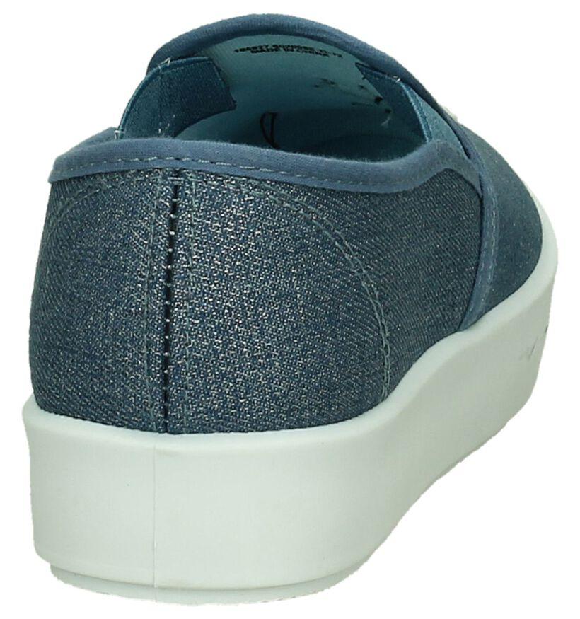 Blink Blauw Slip-on Sneakers in stof (196076)