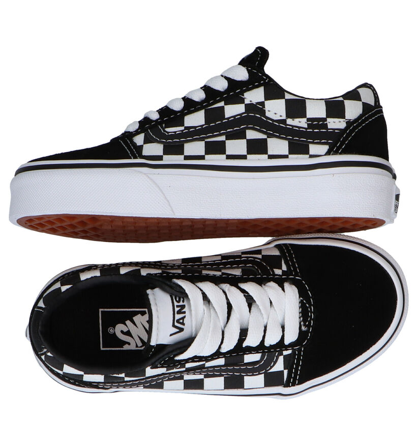Vans Ward Zwarte Sneakers in leer (277574)
