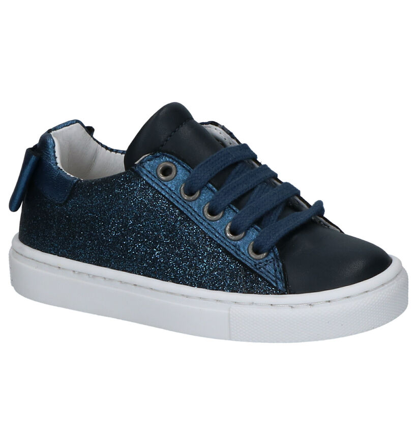 Milo & Mila Chaussures basses en Bleu foncé en cuir (290086)