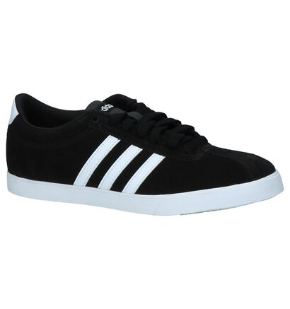adidas Courtset Zwarte Sneakers in daim (237043)