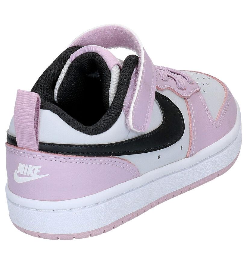 Nike Court Borough Baskets en Rose en cuir (266035)