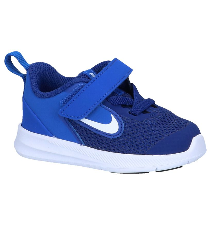Nike Baskets basses en Bleu foncé en textile (250009)