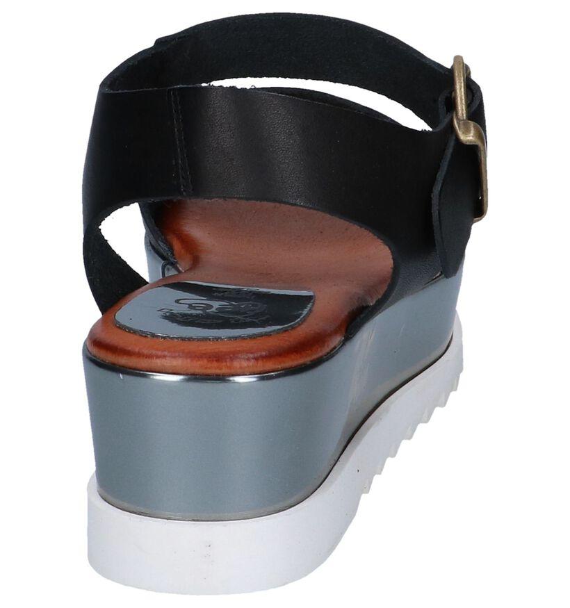 Zwarte Sandalen Hee in leer (244439)