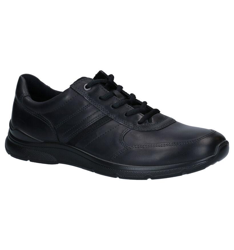 ECCO Irving Chaussures à Lacets en Noir en cuir (280874)