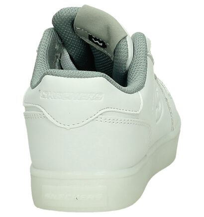 Skechers Energy Lights Baskets basses en Blanc en simili cuir (210344)