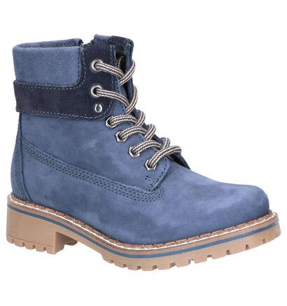Dazzle Blauwe Boots in nubuck (261600)