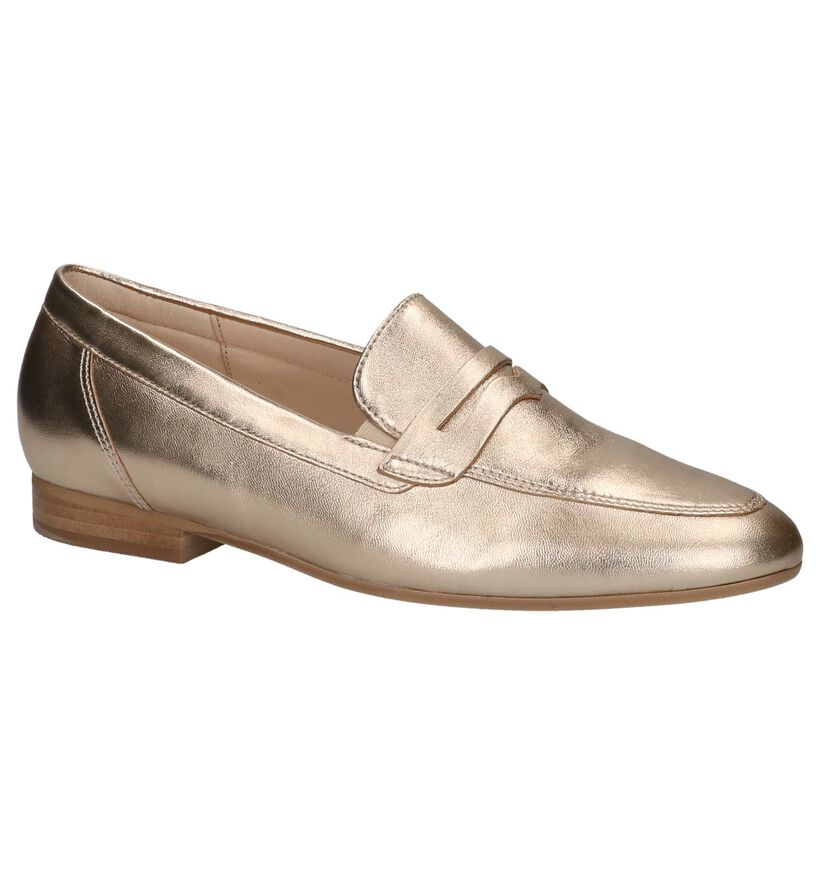 Gabor OptiFit Loafers en Or en cuir (216113)