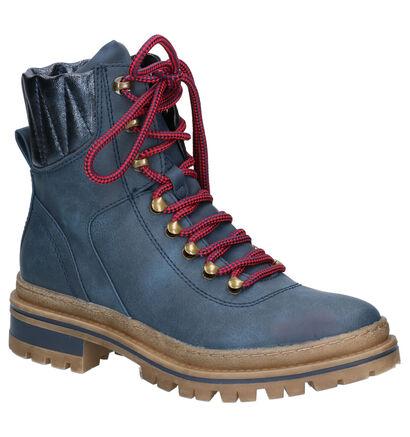 Dazzle Boots Blauw in kunstleer (256593)