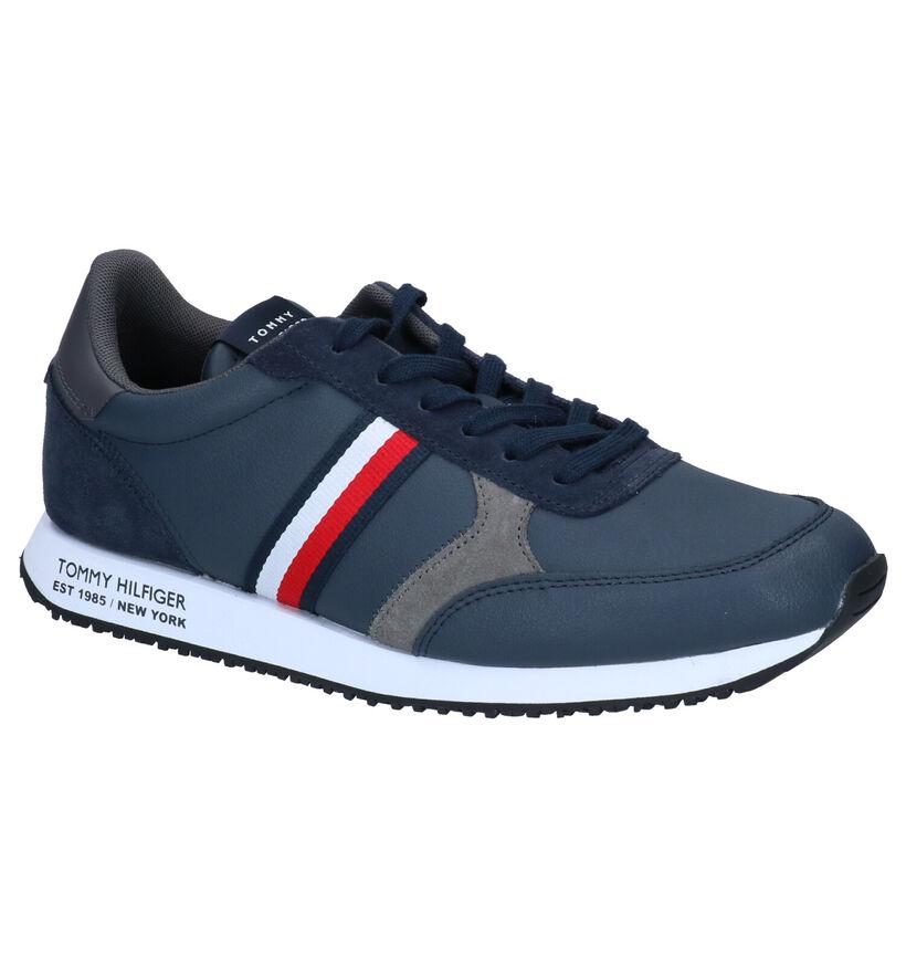 Tommy Hilfiger Runner Blauwe Sneakers in leer (293051)
